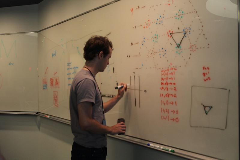 Making diagrams at iOSDevCamp.