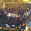 The photo I took just before my demo at iOSDevCamp.