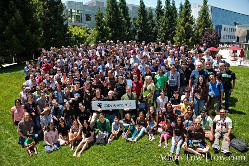 The group photo from iOSDevCamp on July 22, 2012.