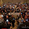 iPad screens light up the group photo during the inaugural iPadDevCamp 2010 in San Jose, California, on April 18, 2010.