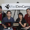 Autumn Gem for the iPad team: Ivan Torres and Dominic Tham from XBureau and Rae Chang and Adam Tow from Autumn Gem. The app won the Future of Publishing Award sponsored by Promote-A-Book.