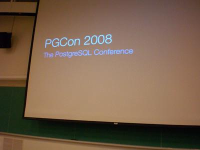 pgCon 2008