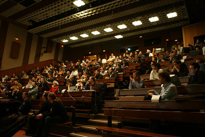 Audience during intro session and keynote