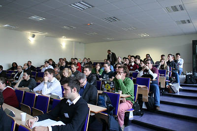 Audience during Marks PostGIS talk