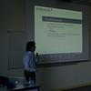 Gabriele talking about data warehousing