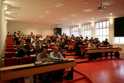 Audience in the french track room