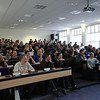 Audience in the english track room