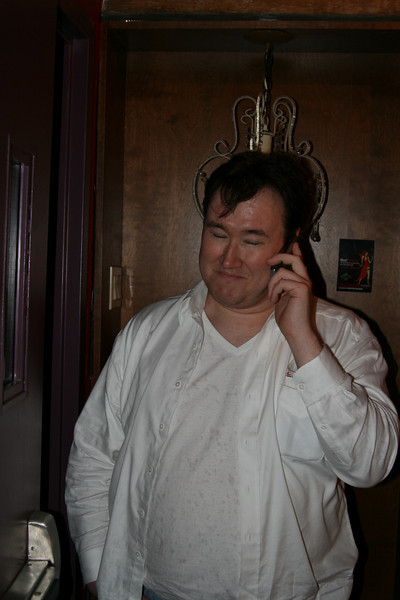 EDB Dinner Party - there's always someone from EDB on the phone...