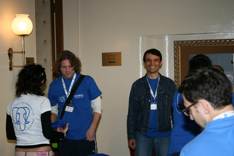 Closing up the registration area