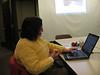 Sarah preparing for Sheet Music Consortium workshop