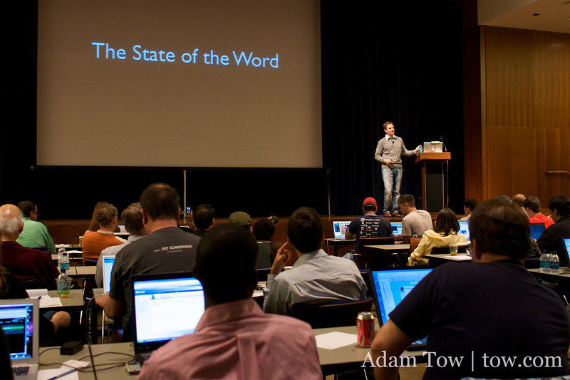 The State of the Word address by Matt Mullenweg at WordCamp 2008 in San Francisco.