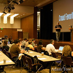 Stephen O'Grady of RedMonk presents at WordCamp 2008.