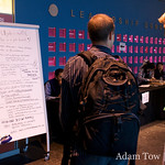 Job listing board for WordPress developers at WordCamp 2008 in San Francisco.