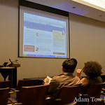 Toni Schneider, CEO of Automattic, shows a screenshot of AllThingsD during his presentation at WordCamp 2008 in San Francisco.