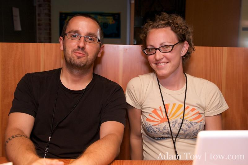 Alex and Amanda at iPhoneDevCamp 2