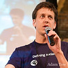 Blake Burris makes an announcement at iPhoneDevCamp2.