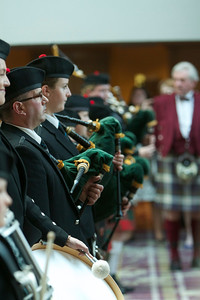 ISRR 2012, Pipers Welcome at Conference Dinner, Fairmont St Andrews