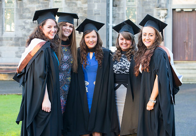 06/01/2015. FREE TO USE IMAGE. WIT (Waterford Institute of Technology) Conferring, Pictured are Sarah Brennan, Borris, Co Carlow, Aoife O'Connor, Clonard, Co Wexford, Lorna Linehan, Tramore, Laura O'Sullivan, Arklow, Sarah Smith, Ballygunner, Waterford who graduated Bachelor of Science (Hons) in General Nursing. Picture: Patrick Browne