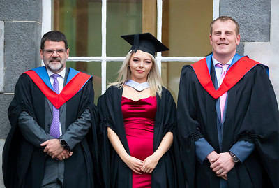 30/10/2019. Waterford Institute of Technology (WIT) Conferring Ceremonies. 30/10/2019. Waterford Institute of Technology (WIT) Conferring Ceremonies. Pictured are Ray O'Hanlon Tramore, Co. Waterford who graduated Higher Cert in Business, Emily Commane, Graignamangh Co. Kilkenny who graduated Bachelor of Business and Jamie Keohan Waterford who graduated Higher Cert in Business. Picture: Patrick Browne.