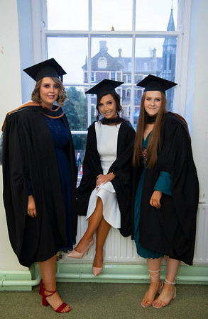 30/10/2019. Waterford Institute of Technology (WIT) Conferring Ceremonies. Pictured are  Emily O'Niell Offaly, Charlotte Cuddihy Waterford City and Carra Richardson, Mayo who graduated Bachelor of Arts Hons in Marketing & Digital Media. Picture: Patrick Brownee