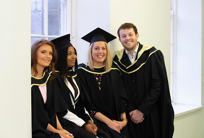 30/10/2019. Waterford Institute of Technology (WIT) Conferring Ceremonies. Pictured are Lynn Crowley Bunmahon, Mina Lisa Dalma Waterford city, Grainne Dileen Waterford and Eddie Browne Carlow who graduated Master of Business. Picture: Patrick Browne