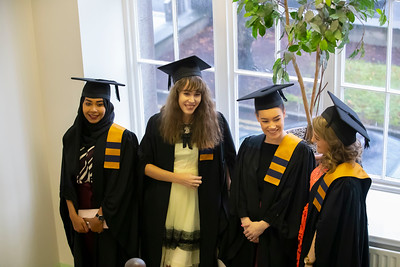 31/10/2019. Waterford Institute of Technology (WIT) Conferring Ceremonies are Eptihag Ibrahim, Waterford, Niamh Norbury Waterford, Aisling Fox, Cuffsgrange, Kilkenny Kellie Halligan, Stoneyford Kilkenny. Picture: Patrick Browne