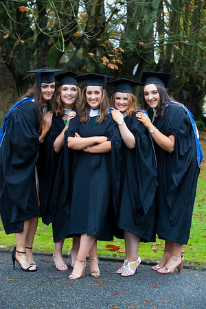 01/11/2019. Waterford Institute of Technology (WIT) Conferring Ceremonies. Pictured are Emma McCormack Westmeath, Alice Byrne Danesfort, Louise Carroll Tullow, Aisling Jones Baltinglass, Miriam Dinesen Rathmore Co. Kerry. Picture: Patrick Browne