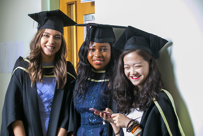 31/10/2018. Waterford Institute of Technology (WIT) Conferring Ceremonies 2018. Pictured are Mairead Daly Offaly, Lindiwe Majawa Dublin, Sisi Xu Chennai and Waterford. Picture: Patrick Browne