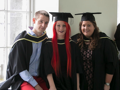 31/10/2018. Waterford Institute of Technology (WIT) Conferring Ceremonies 2018. Pictured are Adam Pearson Waterford, Pamela Flynn Waterford and Laura Lanigan Kilkenny. Picture: Patrick Browne