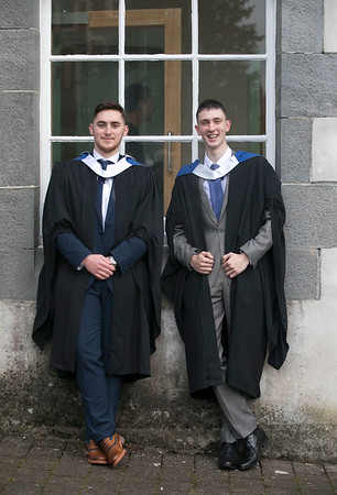31/10/2018. Waterford Institute of Technology (WIT) Conferring Ceremonies 2018. Pictured are Niall McCabe Waterford and Jimmy Farrell Arklow. Picture: Patrick Browne