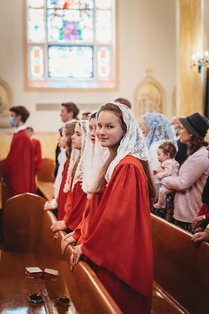 _NIK0513 St  Mary Confirmations FSSP 2021 Bishop Coffey