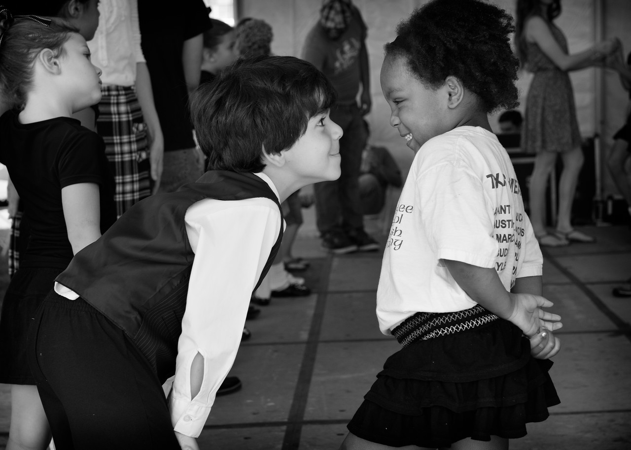Young Dancers Wait To Dance