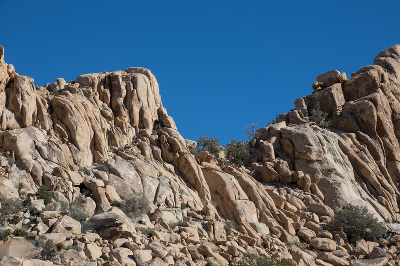 Monzo Granite Rock Outcrop at Joshua Tree National Park