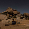 Night Photo of Granite Rock Outcrop at Ryan's Camp at Joshua Tree National Park