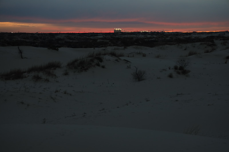 Evening Sunset and the Sand Plant