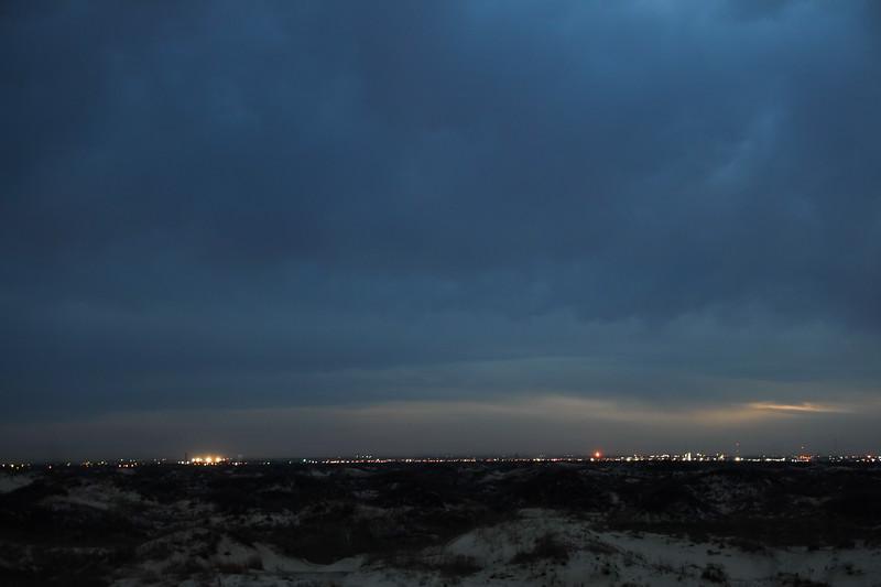 City Lights on the Evening Horizon