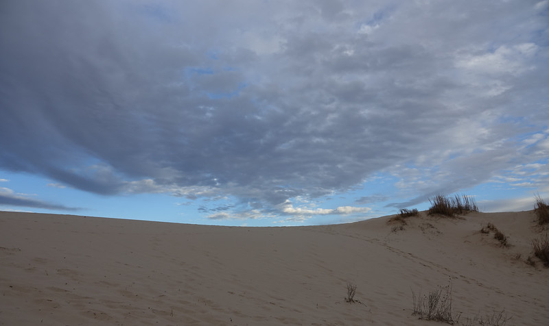 Morning Clouds Above the Sand Dunes