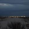 Nigh Lights on the Horizon LIne of the Sand Dunes