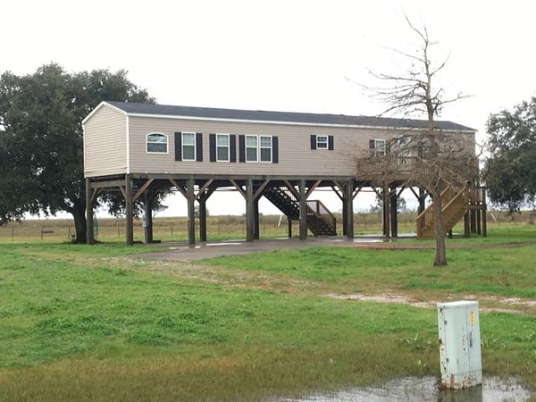 You Know you are in Louisiana when the Trailers are on stilts