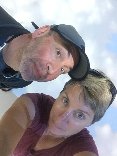 Couple Selfie in the Cloud Room at the Dali Museum