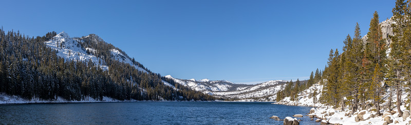 Winter Snow at Echo Lake in the Sierra Nevada