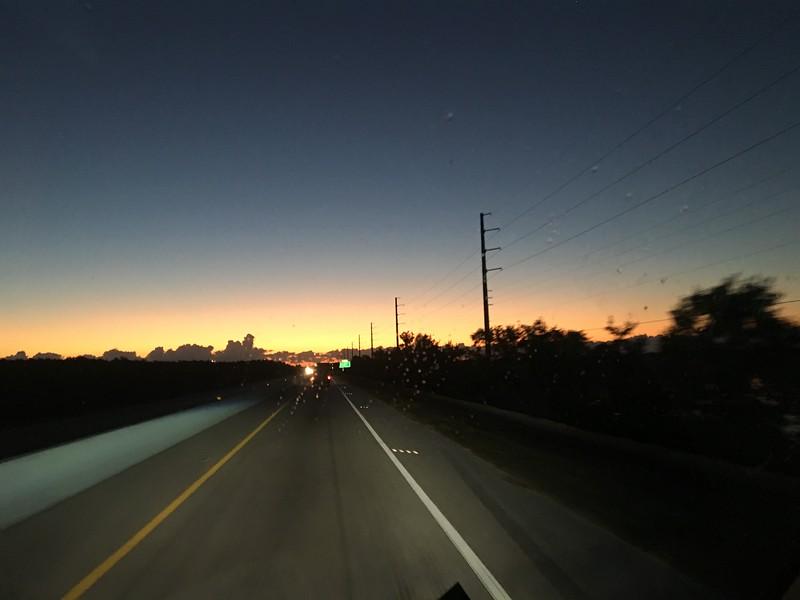 Sunrise Along the Highway in Key Largo