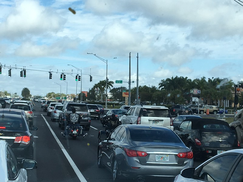 Rush Hour and Motorcycles on the Highway