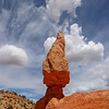 Red Rock Hoodoo on Along Thunder Mountain Trail in Utah
