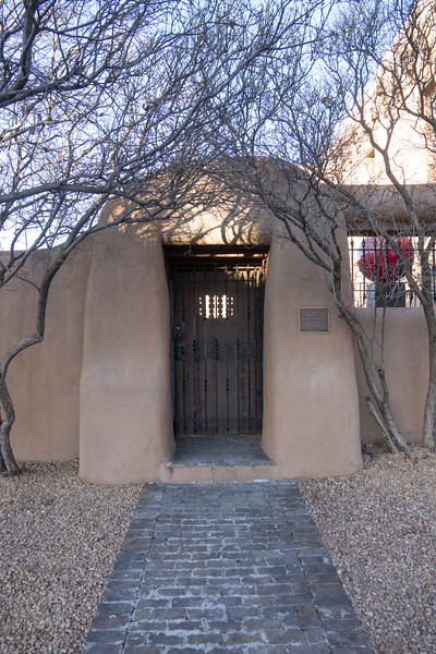 Adobe Doorway to Sculpture Park