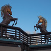 Two Stallions Sculptures