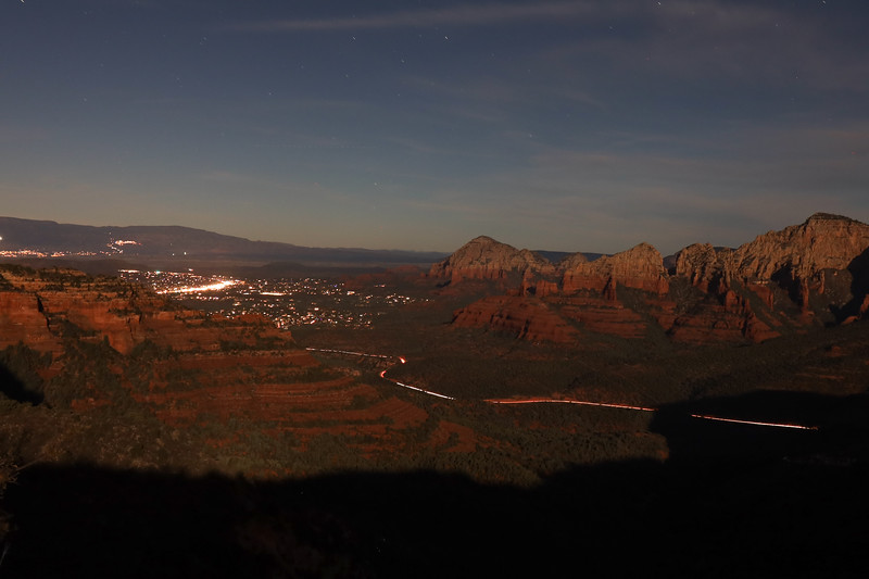 Sedona's Evening Lights at Sunset