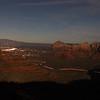 Sedona's Evening Lights at Sunset