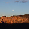 Moon Setting as the Sun Rises Over Sedona Arizona from Schnebly Hill Road