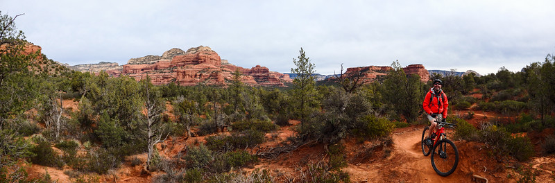 Panorama Along  Longs Canyon Red RockTrail in Sedona Arizona